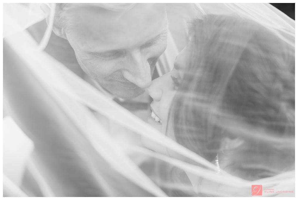 Brudepar under slør
