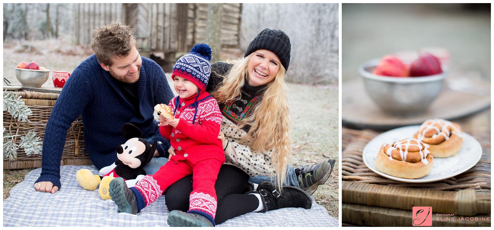 Vinterlige familiebilder