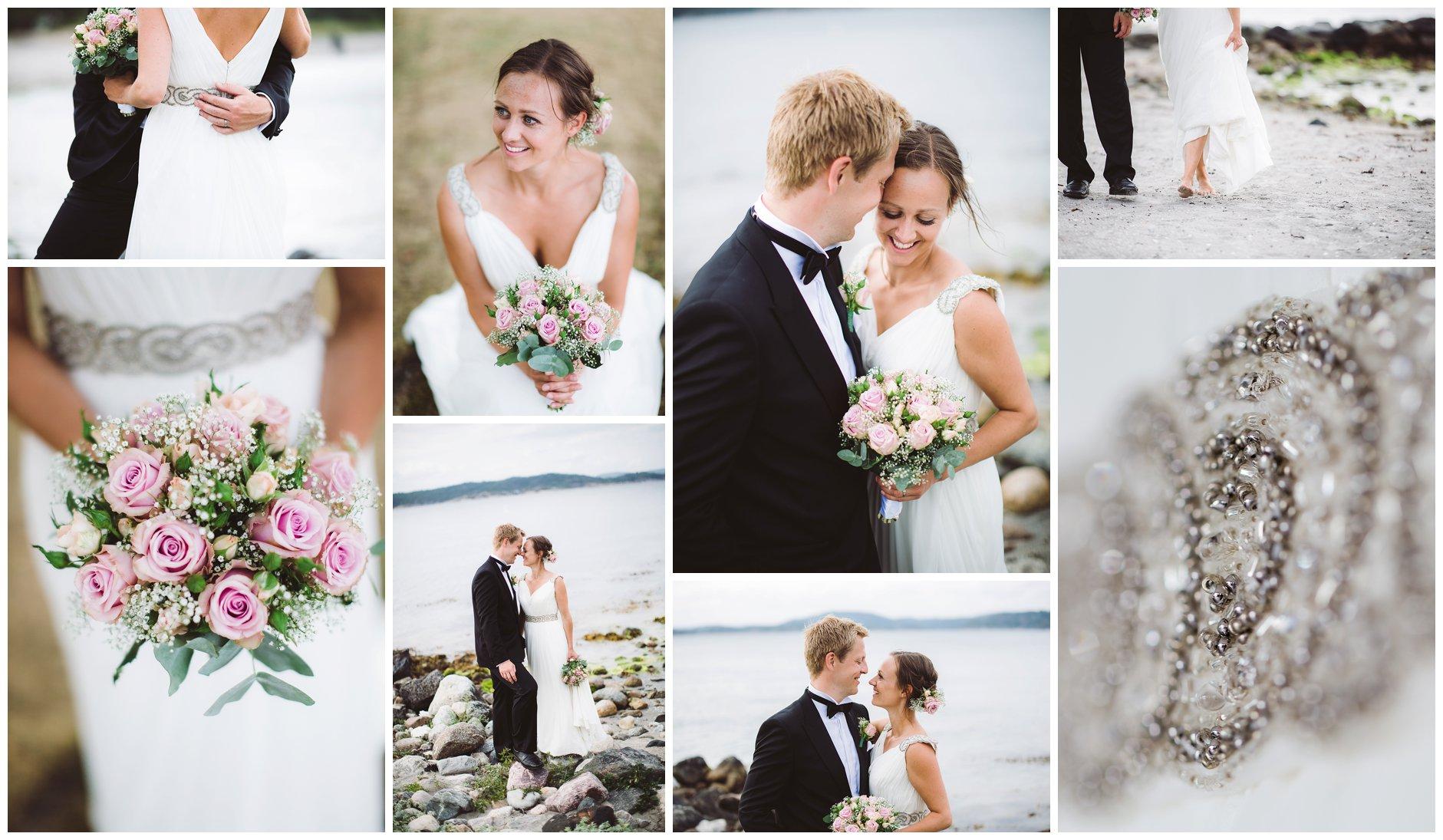 Bryllupsbilder på Jomfruland Kragerø