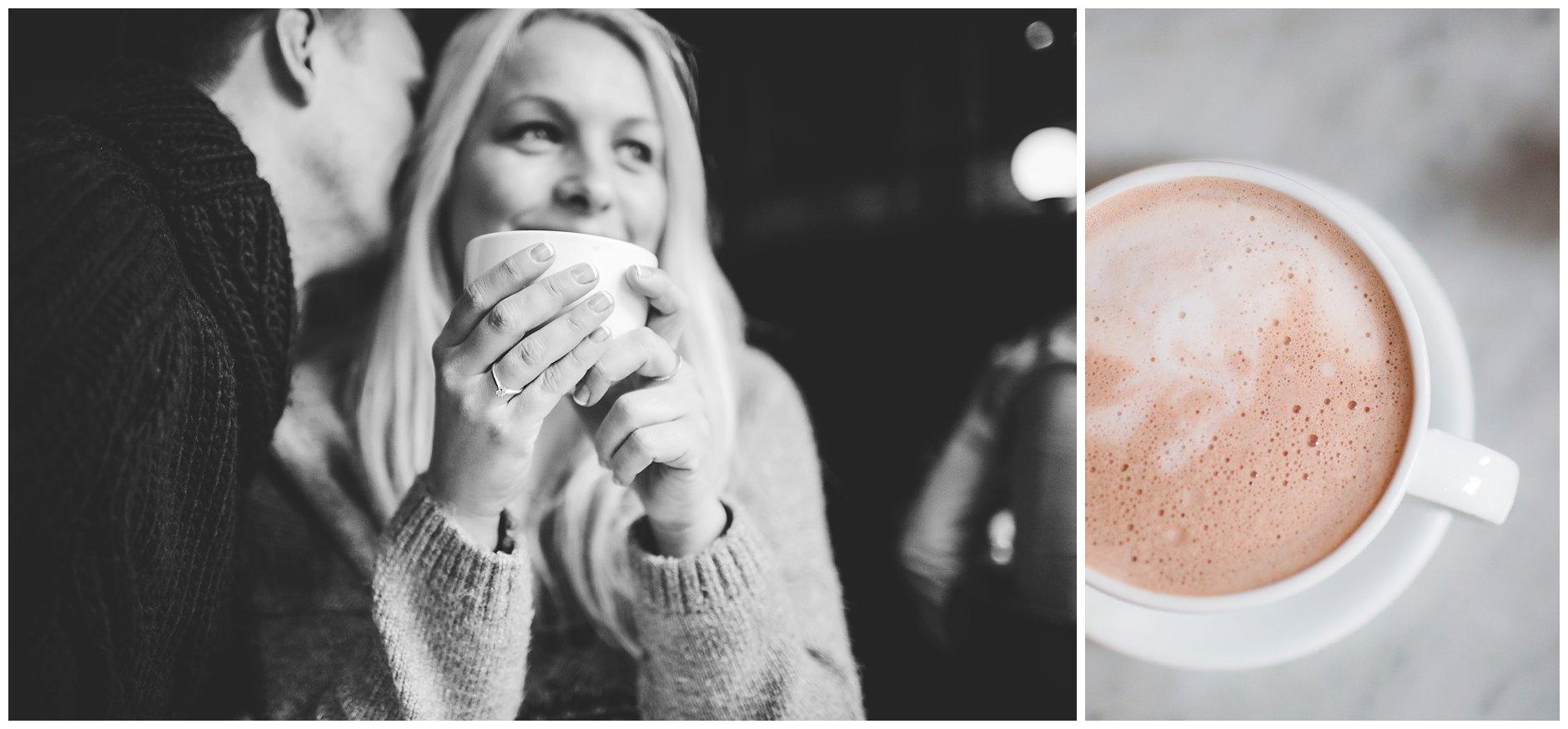 Kjærestebilder cafélivet