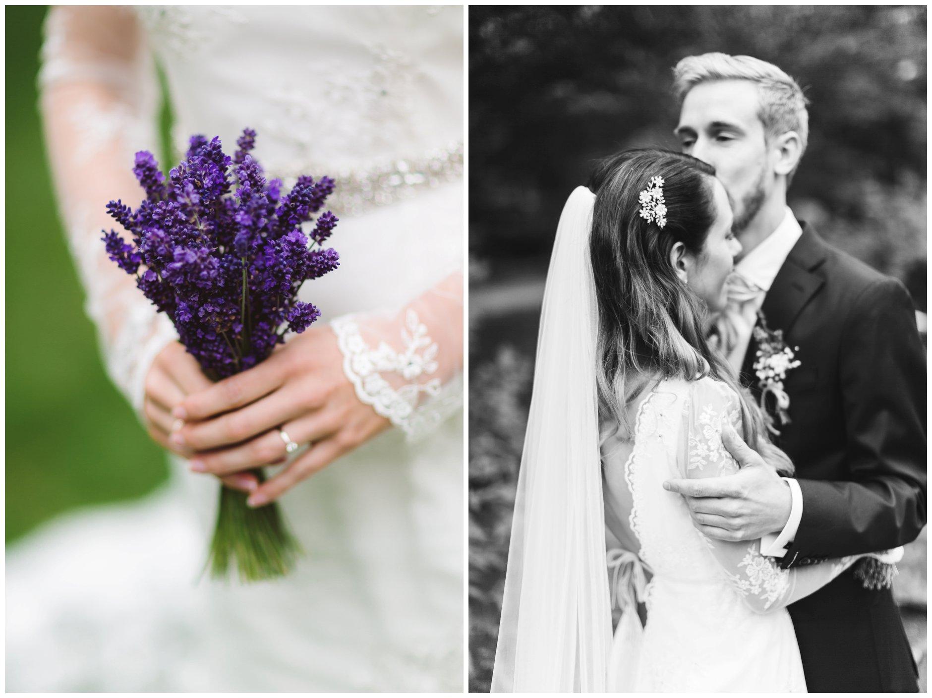 Fotograf-Eline-Jacobine-chic-vintage-brud-lavendel-brudebukett-langermet-brudekjole
