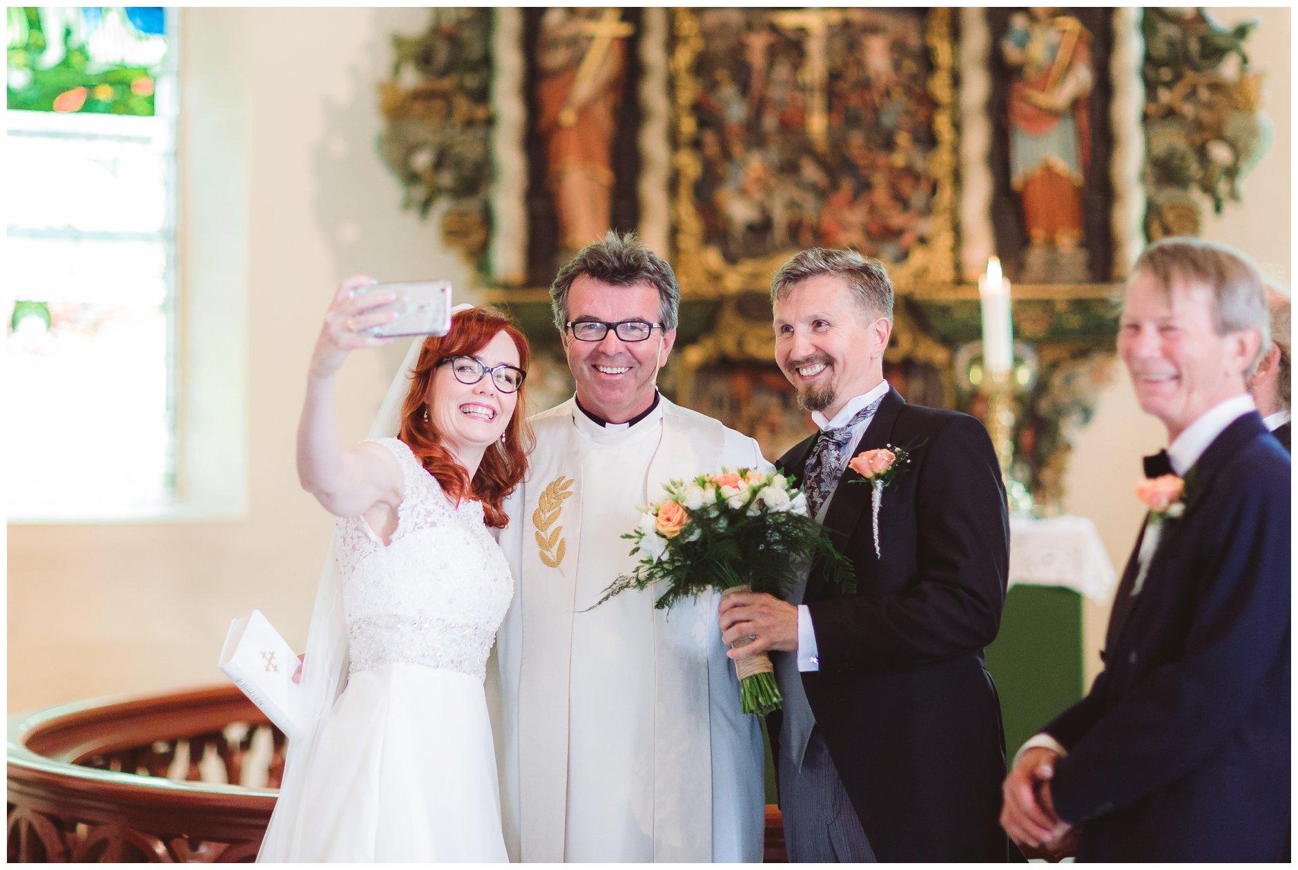selfie med presten i Tjøme kirke
