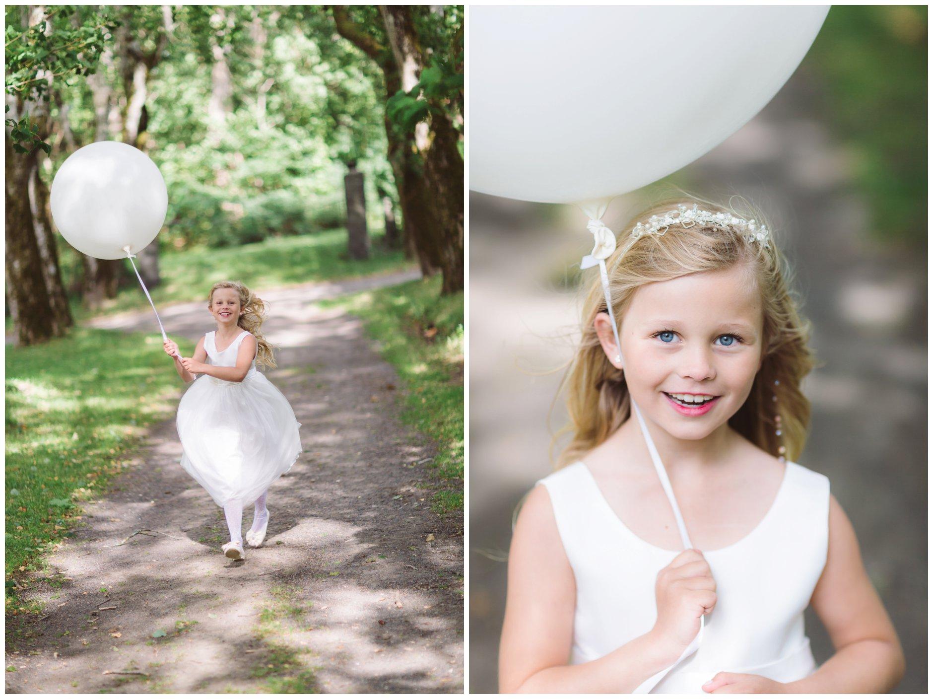 Brudepike med ballong Tjøme