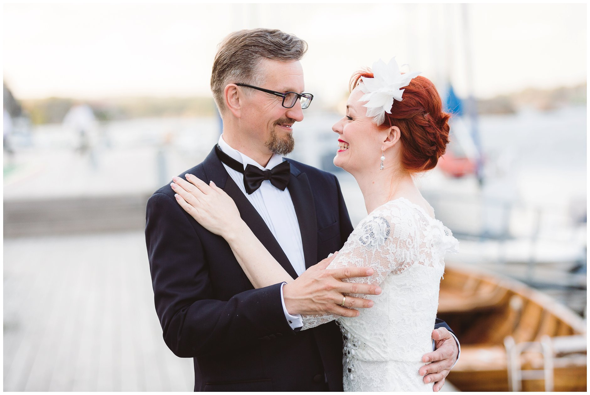 Bryllupsbilder på brygga Scandic hotell Tjøme