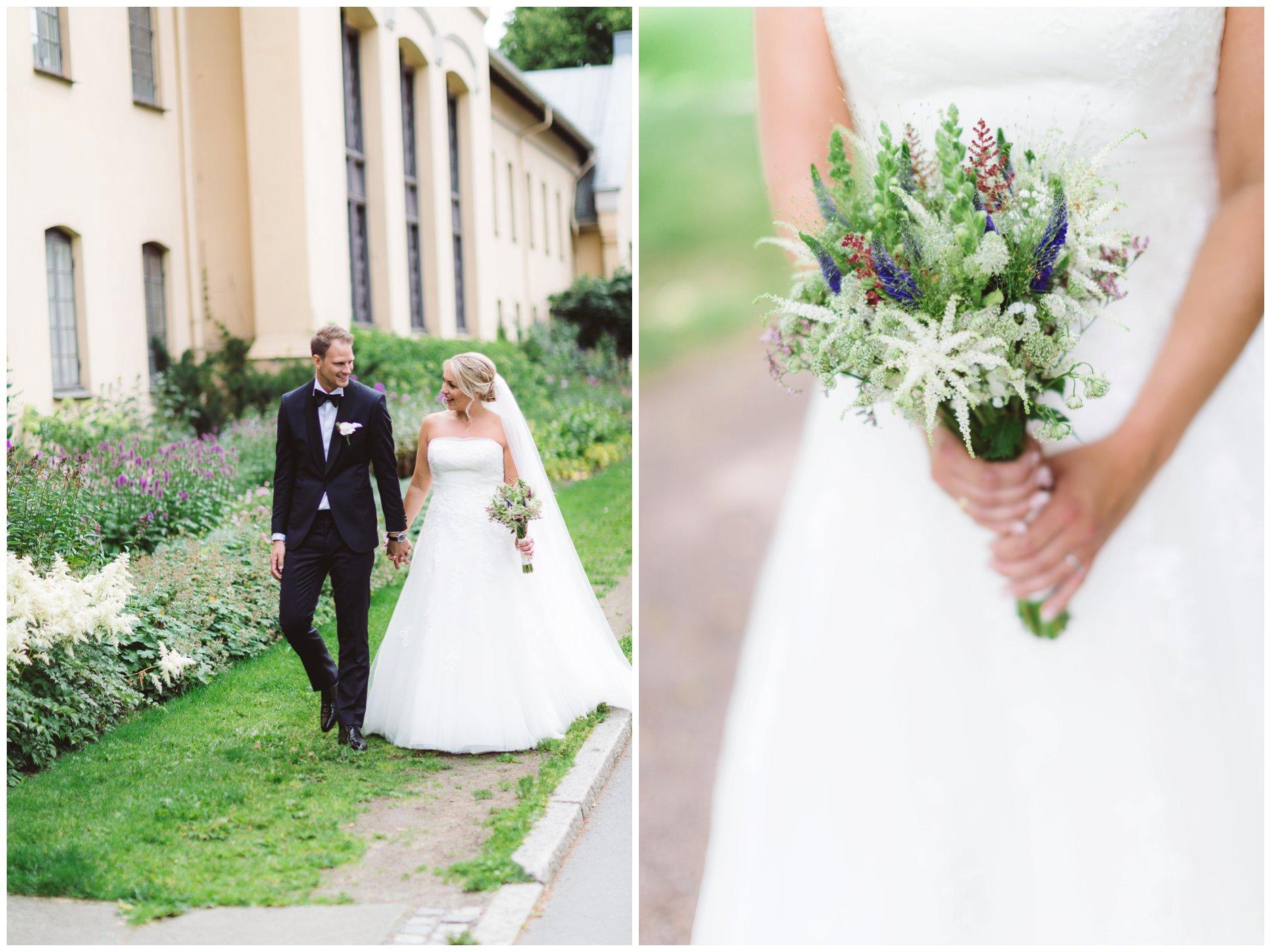 Slottsparken Dronningparken bryllup
