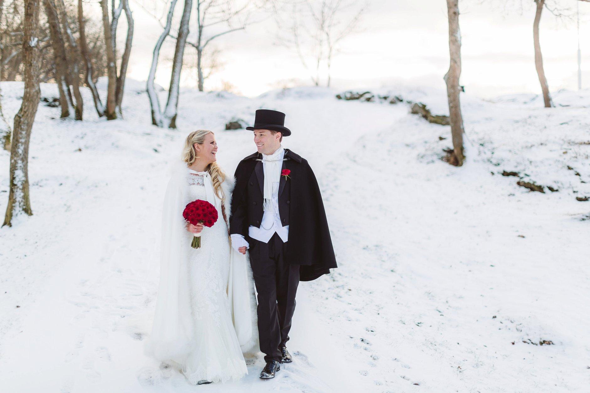 Vinterbryllup i Drøbak og Oscarsborg