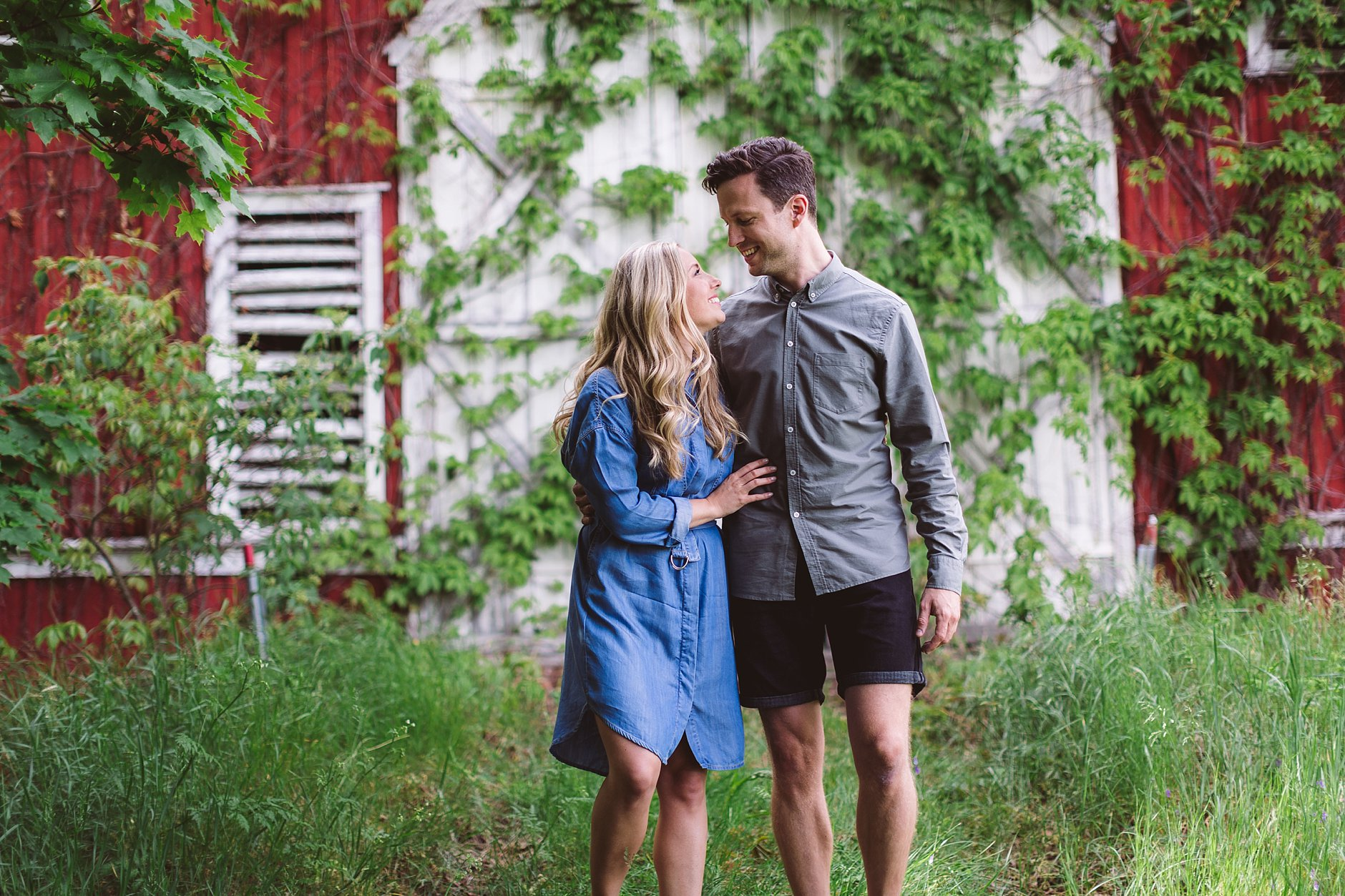 Kjærestebilder på gården