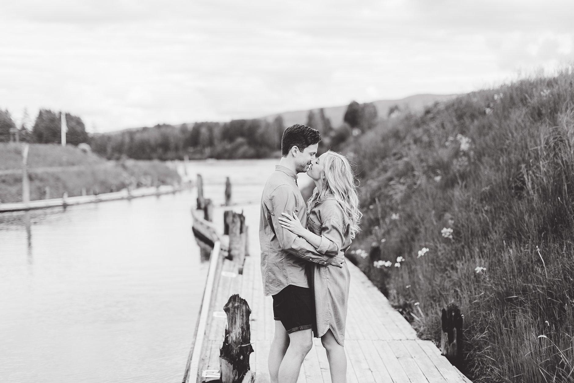 Kjærestebilder på brygga