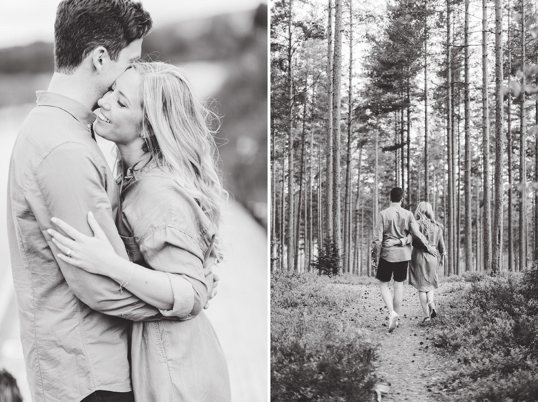 Kjærestebilder i skogen