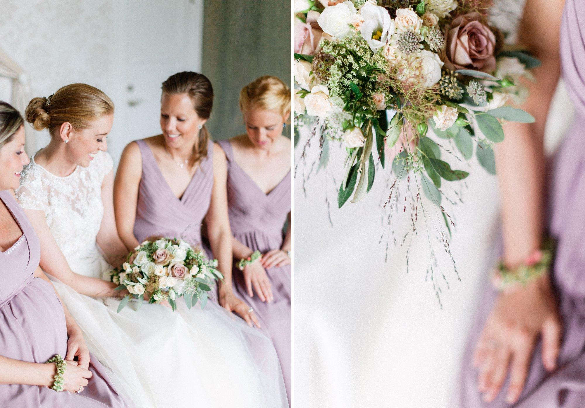 Wedding in Sweden brud med brudebukett på Bjertorp slott