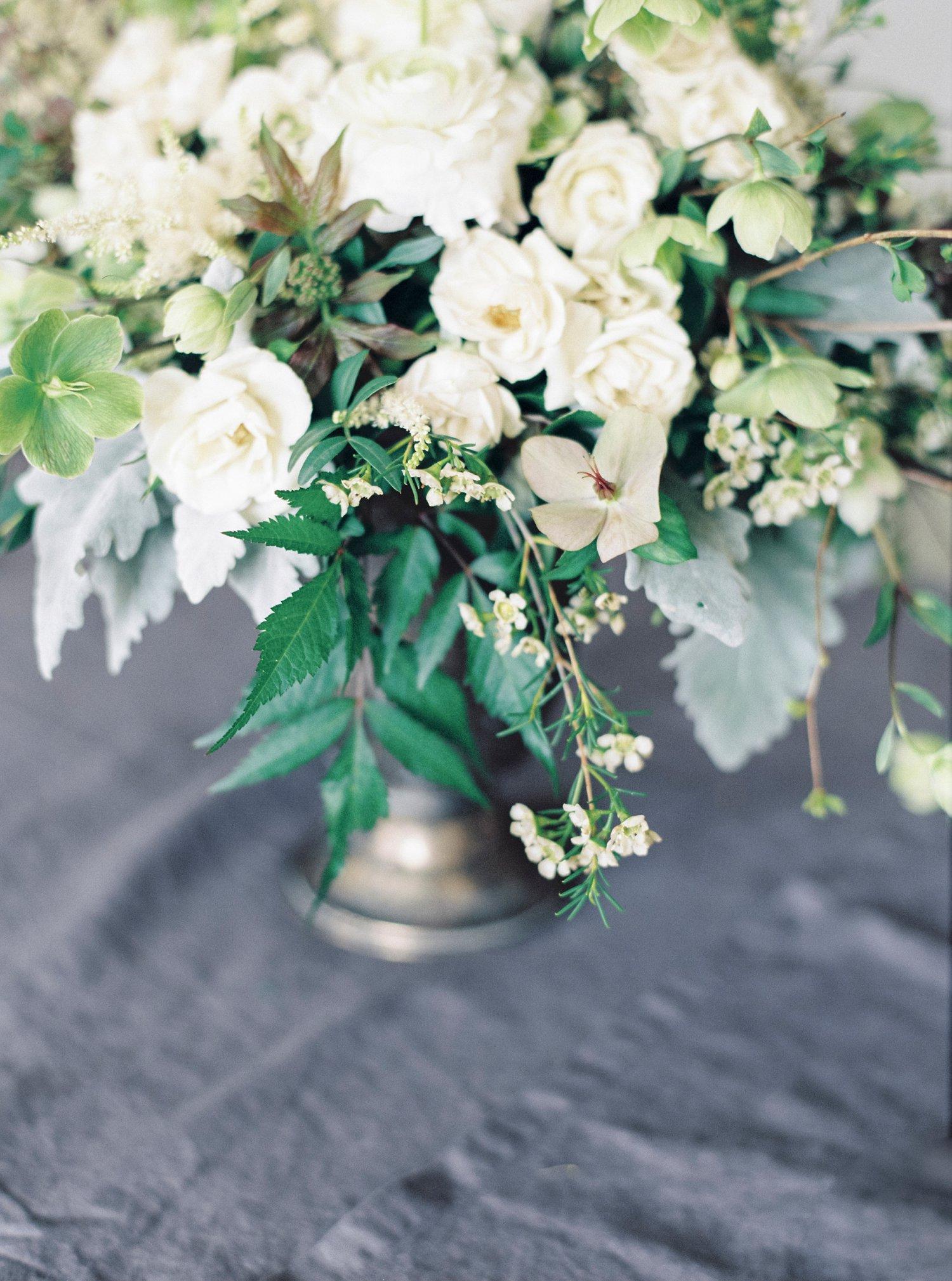 Blomsterdetaljer fra stylet shoot med Esters Hage og Nordiske Bryllup